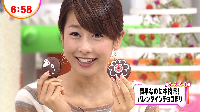 チョコを持つ加藤綾子