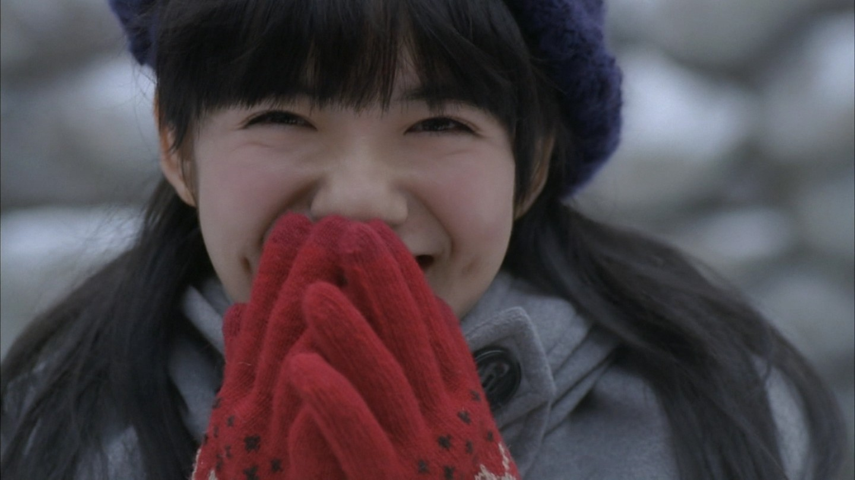 ポスター風な小島藤子。